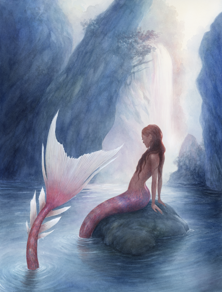 mermaid on a rock